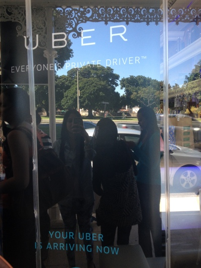 Faeema Sader was arriving in style with Uber